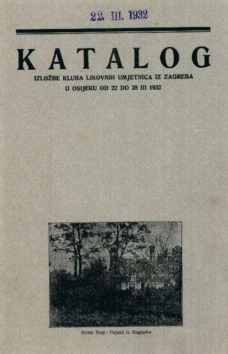 Katalog izložbe Kluba likovnih umjetnica iz Zagreba