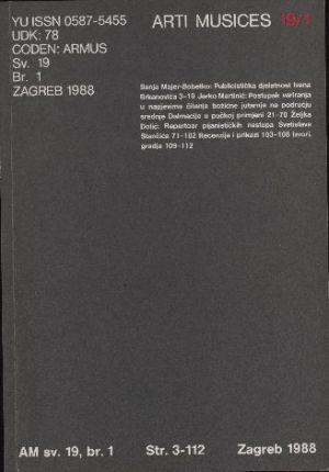 God. 19(1988), br. 1 : Arti musices