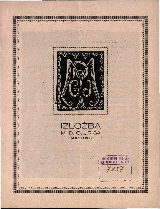 Izložba M. D. Gjurića