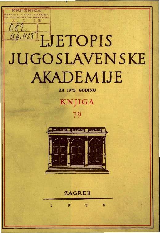 Za godinu 1975. Knj. 79 : Ljetopis