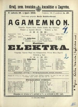 Agamemnon ; Elektra : Tragedija: Tragedija