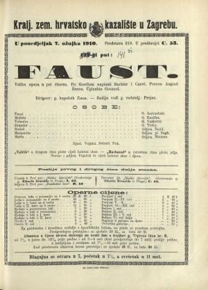 Faust : Velika opera u pet činova