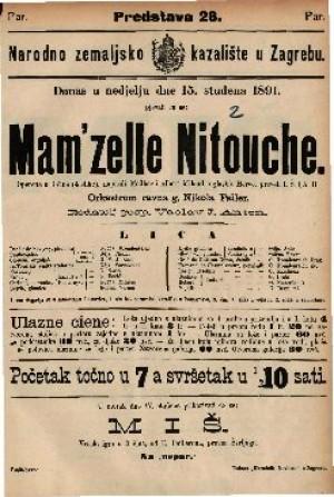 Mam'zelle Nitouche Operetta u 3 čina (4 slike)