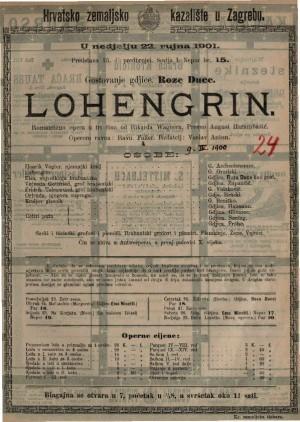 Lohengrin romantična opera u tri čina / od Rikarda Wagnera