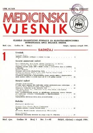 God. 16, br. 1(1984) : Medicinski vjesnik