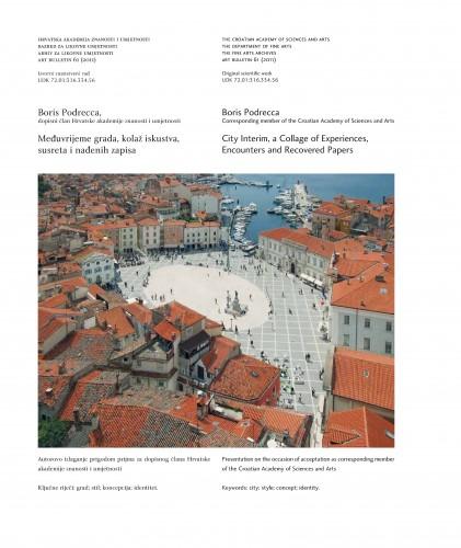Međuvrijeme grada, kolaž iskustva, susreta i nađenih zapisa : Art Bulletin