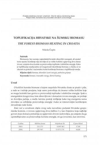 Toplifikacija Hrvatske na šumsku biomasu
