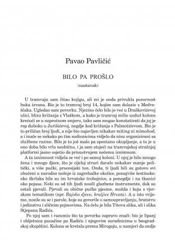 Bilo pa prošlo : (nastavak) : [memoarska proza] : Forum : mjesečnik Razreda za književnost Hrvatske akademije znanosti i umjetnosti.