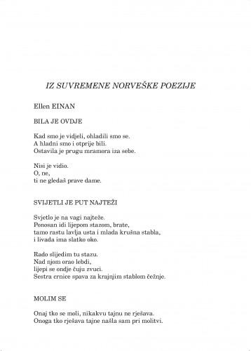 Iz suvremene norveške poezije : Forum : mjesečnik Razreda za književnost Hrvatske akademije znanosti i umjetnosti.