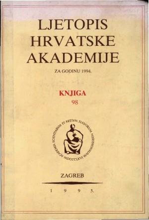 1994. Knj.  98 : Ljetopis
