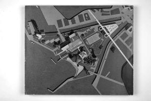 Kombinirano plivalište, Rijeka-Sušak-Delta; projekt prototipa Maketa, vizura 9