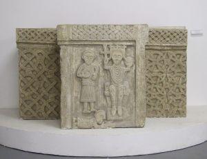 Krstionica s likom kralja Petra Krešimira IV. splitsko-zadarska klesarska radionica