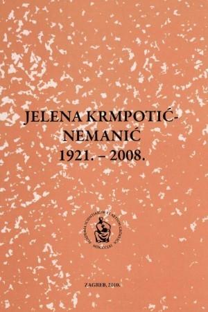 Jelena Krmpotić-Nemanić : 1921.-2008. : Spomenica preminulim akademicima