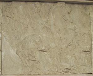Dva konjanika,Partenon -južni friz Fidijina škola