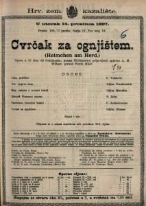 Cvrčak za ognjištem opera u tri čina / od Goldmarka