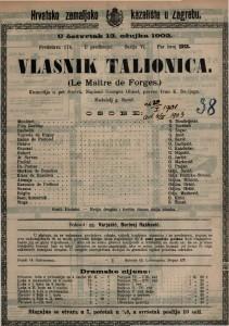 Vlasnik talionica : komedija u pet činova / napisao Georges Ohnet  =  La Maître de Forges