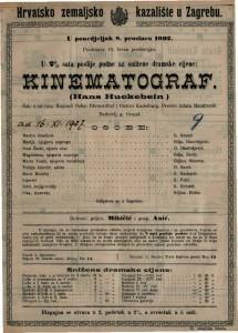 Kinematograf (Hans Huckebein) šala u tri čina / napisali Oskar Blumenthal i Gustav Kadelburg
