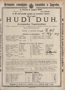 Hudi duh gluma s pjevanjem u tri čina i s predigrom / od I. Nestroya  =  Lumpacius Vagabundus