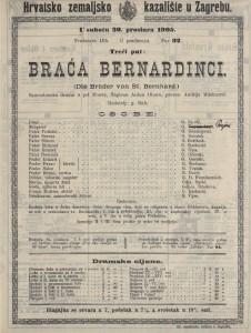 Braća Bernardinci samostanska drama u pet činova / napisao ANton Ohorn