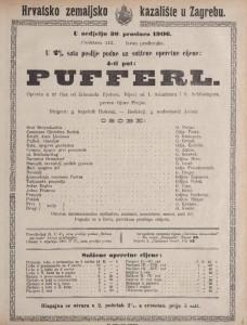 Pufferl opereta u tri čina / od Edmunda Eyslera
