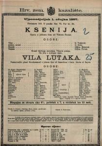Ksenija opera u jednom činu / od Viktora Parme