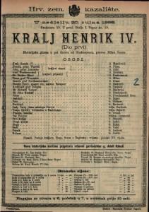 Kralj Henrik IV. Historijska gluma u pet činova / od Shakespeara
