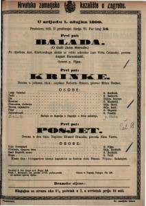 Balada.(O duši Jana Nerude) po riječima Ant. Klásterskoga složio za veliki orkestar Lud. Vitĕz.Čelanský