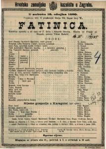 Fatinica komična opereta u tri čina / glazba od Franje pl. Suppéa