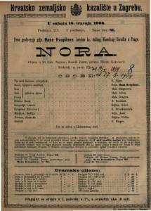 Nora gluma u tri čina / napisao Henrik Ibsen