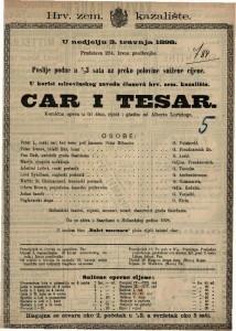 Car i tesar Komična opera u tri čina / riječi i glazba od Alberta Lortzinga