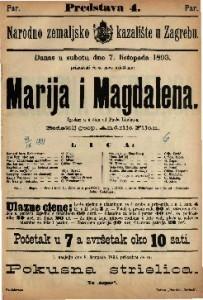 Marija i Magdalena Igrokaz u 4 čina / od Pavla Lindau-a