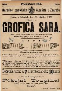 Grofica Sara : Drama u 5 čina