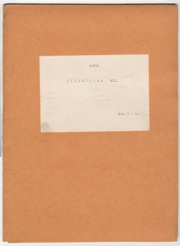 Bilježnica XV.