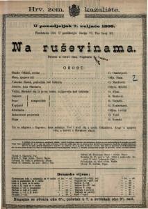 Na ruševinama Drama u četiri čina / Napisla Kamilla Lucerna