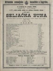Seljačka buna historijska drama u pet činova / po istoimenom romanu Augusta Šenoe napisao Gjuro Prejac