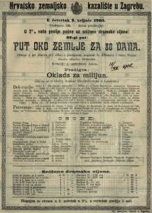 Put oko zemlje za 80 dana gluma u pet činova (14 slika) s predigrom / napisali A. d'Ennery i Jules Verne