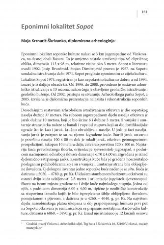 Eponimni lokalitet Sopot : Posebna izdanja / Hrvatska akademija znanosti i umjetnosti, Centar za znanstveni rad u Vinkovcima
