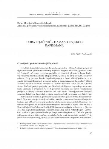 Dora Pejačević - dama sececijskog rafinmana