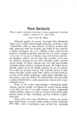 Pleme Berislavića : RAD