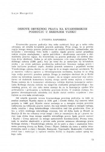 Osnove obveznog prava na kvarnerskom području u srednjem vijeku