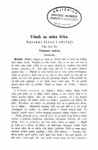Vrbnik na otoku Krku : narodni život i običaji : Zbornik za narodni život i običaje