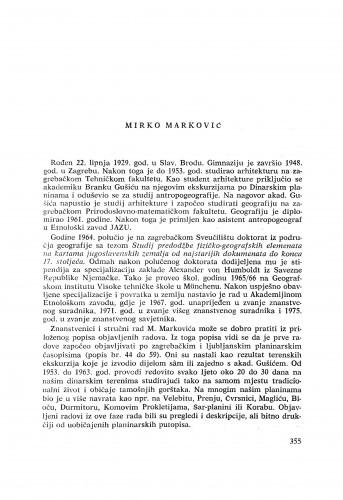 Mirko Marković : [biografije novih članova Akademije]