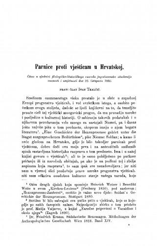 Parnice proti vješticam u Hrvatskoj