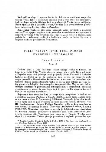 Filip Vezdin (1748-1806.), pionir evropske indologije