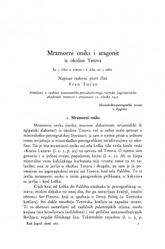 Mramorni oniks i aragonit iz okoline Tetova