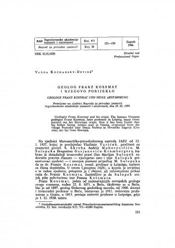 Geolog Franz Kossmat i njegovo porijeklo