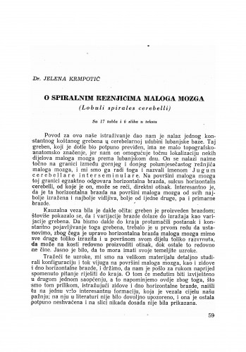O spiralnim režnjićima maloga mozga (Lobuli spirales cerebelli)