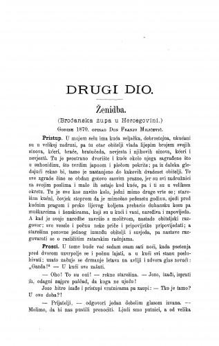 Ženidba : (Broćanska župa u Hercegovini) / F. Milićević