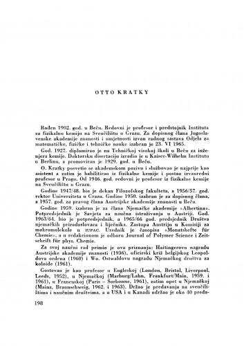 Otto Kratky