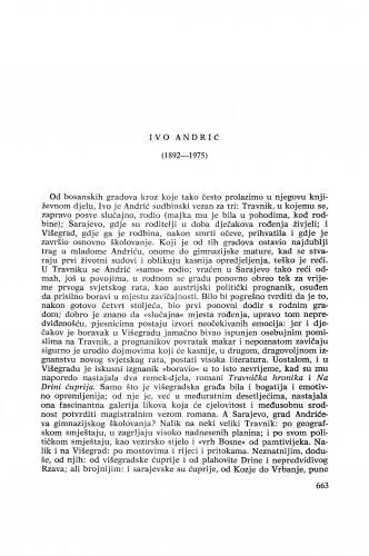 Ivo Andrić (1892-1975) : [nekrolozi] / I. Frangeš